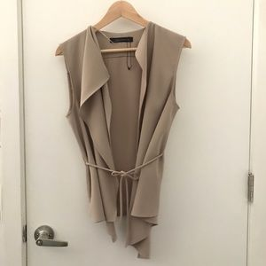 Zara Vest/Outerwear in Cream